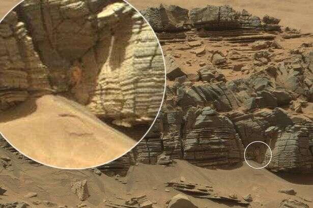 Foto capturada pela NASA mostra suposto caranguejo em Marte