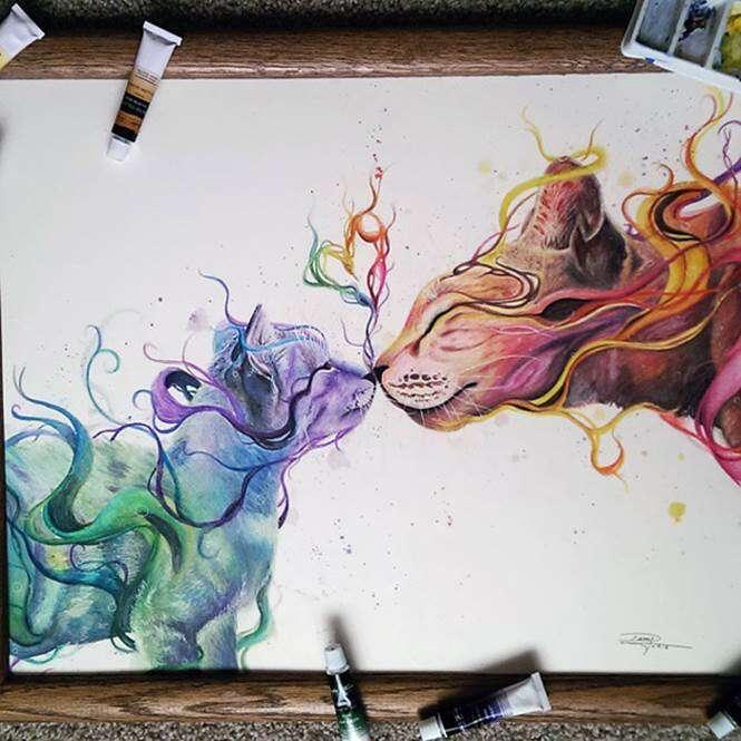 Desenho com lápis de cor