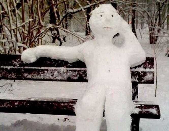Os mais curiosos bonecos de neve já criados