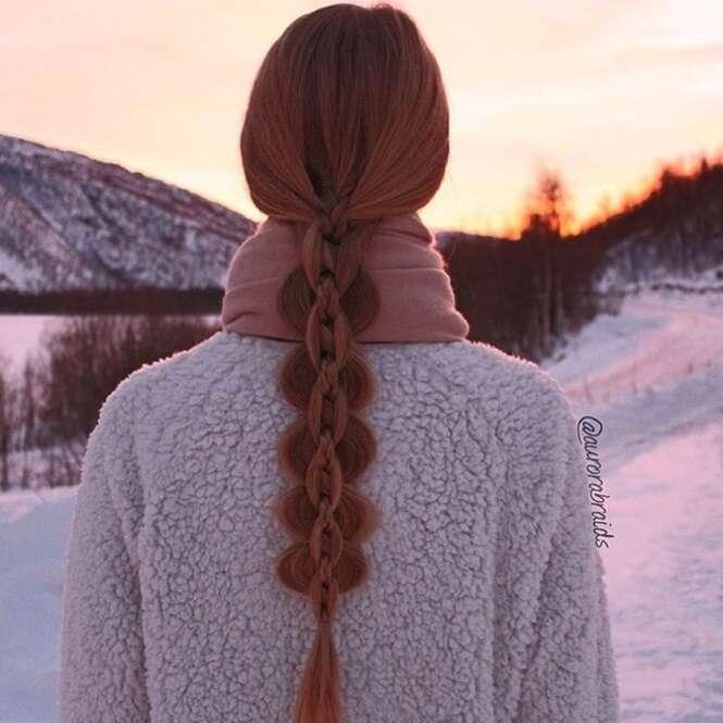 Imagens de tranças para inspirar quem tem os cabelos compridos