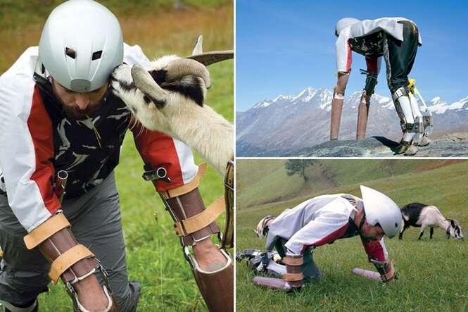 Homem abandona tudo para viver como uma cabra