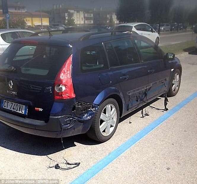 Vídeo mostra momento inacreditável em que um carro derrete na Itália
