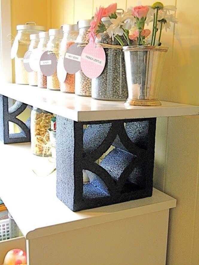Ideias criativas para usar blocos de cimento