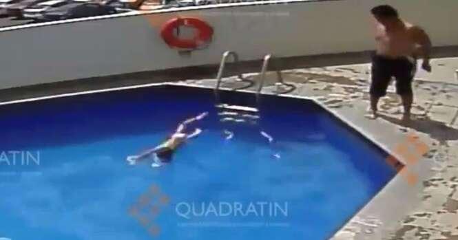 Vídeo chocante mostra padrasto jogando criança em piscina de hotel repetidas vezes até mata-la