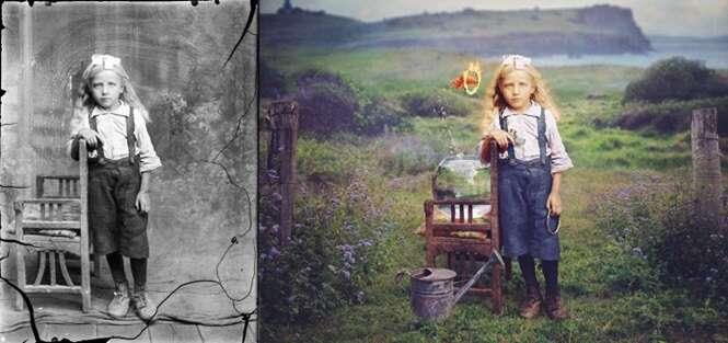 Artista restaura fotos antigas colocando cor