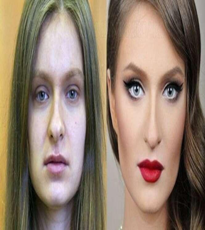 As mais impressionantes transformações feitas com maquiagem
