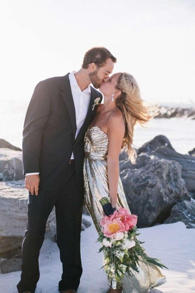 Noivas que não usaram vestidos brancos em seus casamentos