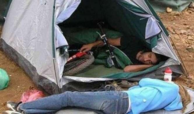 As mais estranhas fotos de acampamentos