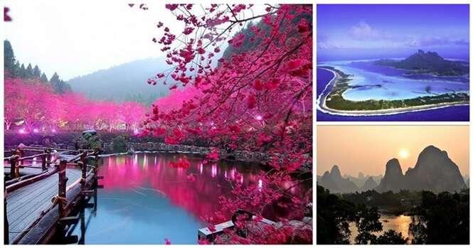 Algumas vistas deslumbrantes pelo mundo