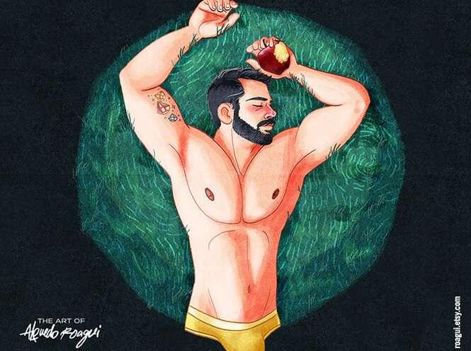 Ilustrador causa polêmica ao usar magia da Disney para promover desenhos homoafetivos