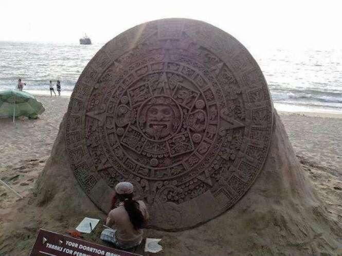 Esculturas de areia impressionantes