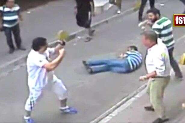Vídeo mostra momento em que boxeador luta e derrota várias pessoas em briga generalizada