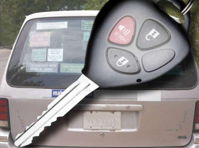Ladrão fica preso em carro ao tentar roubá-lo