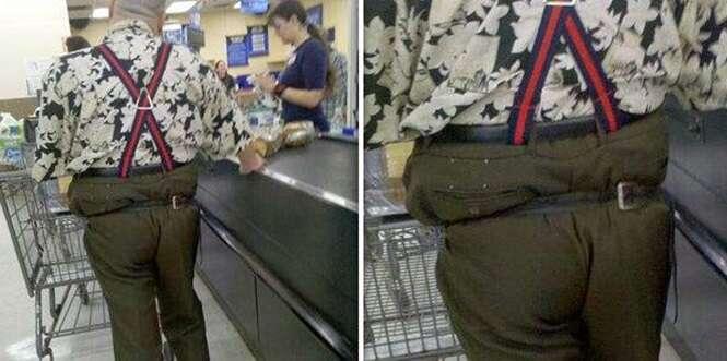Looks inadequados para ir às compras em um supermercado