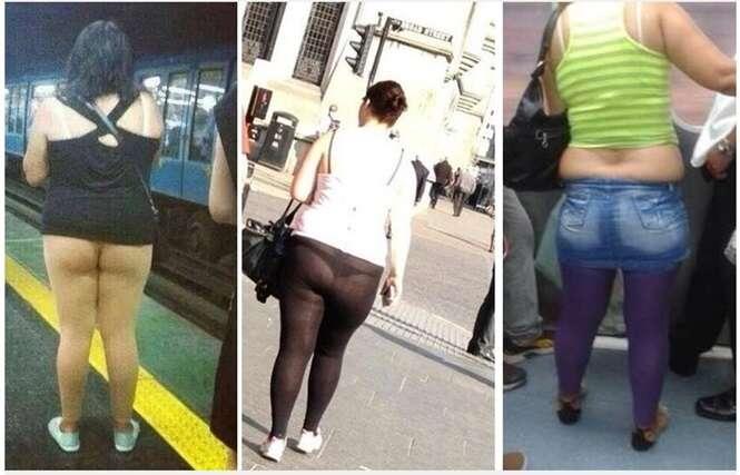 Formas de como não se usar uma calça legging