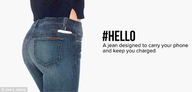 Calça que carrega smartphone dentro do bolso chega ao mercado