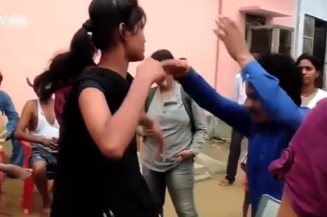 Vídeo mostra momento em que mulher humilha em público pervertido que tentou molestá-l