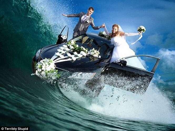 As mais bizarras fotos de casamento