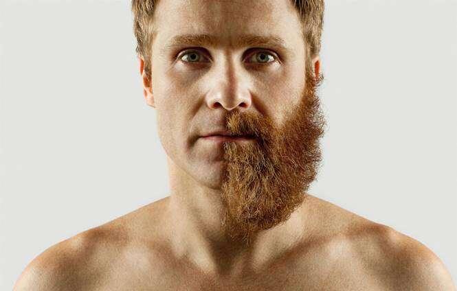 Metade da barba raspada