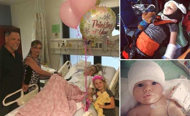 Menina de cinco anos salva família após sair de carro acidentado e subir barranco para pedir ajuda