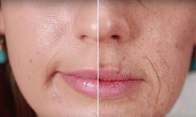 Vídeo chocante mostra o que acontece no rosto de um fumante com o passar dos anos