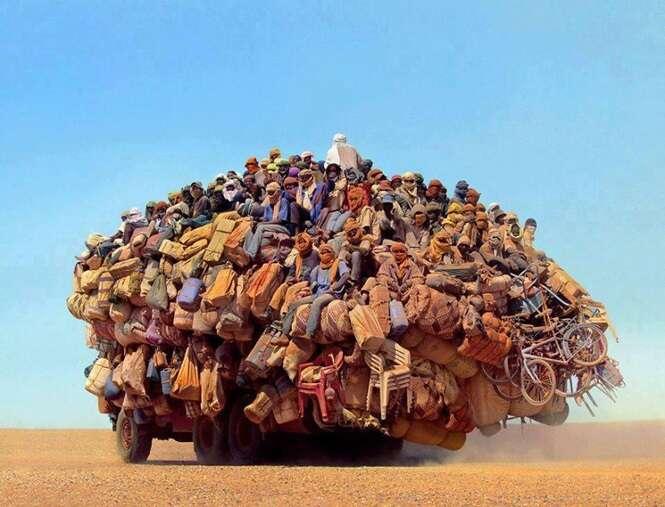 Meios de transporte mais lotados do planeta