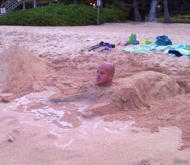 Piores esculturas de areia