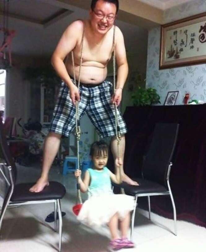 Pais que fazem de tudo para suas filhas