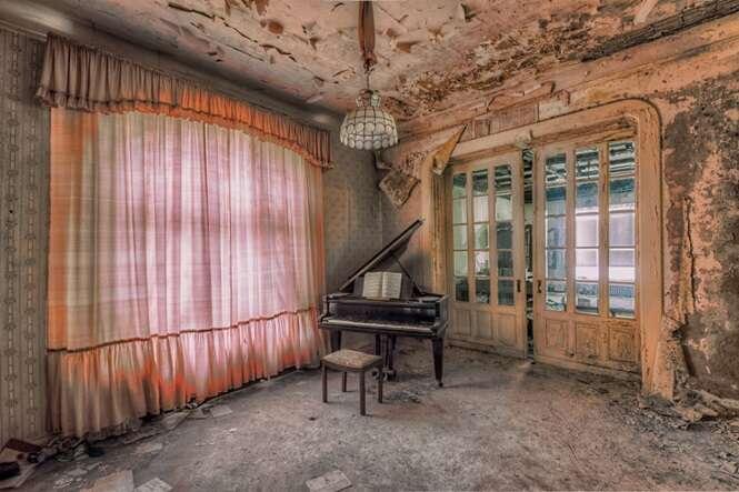 Fotos interessantes registradas em prédios abandonados na Europa