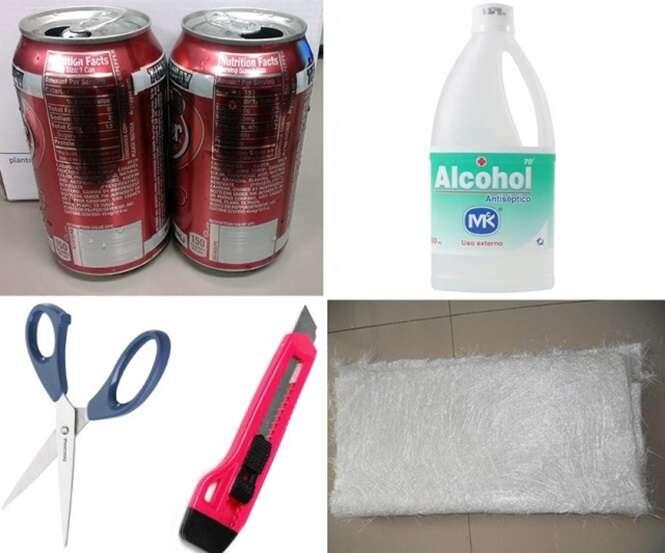 Como fazer um fogão improvisado com latinha de refrigerante ou cerveja