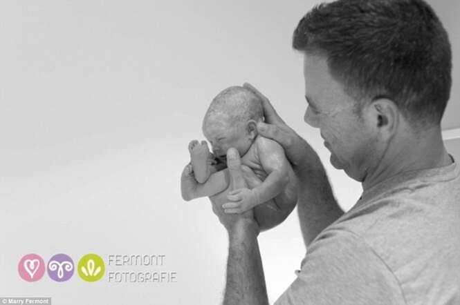 Série de imagens mostra recém-nascidos nos primeiros segundos de vida