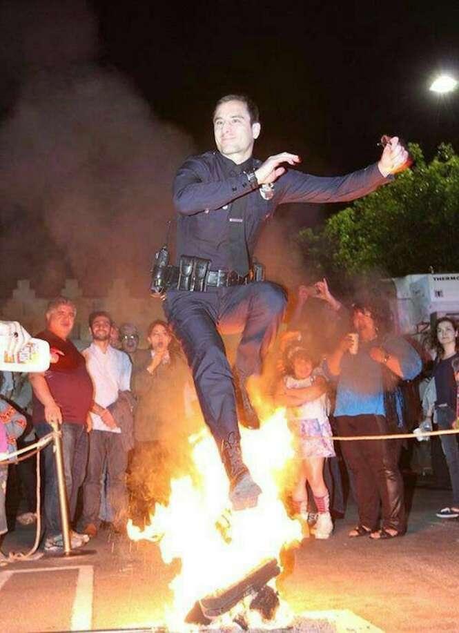 Policiais que sabem como se divertir