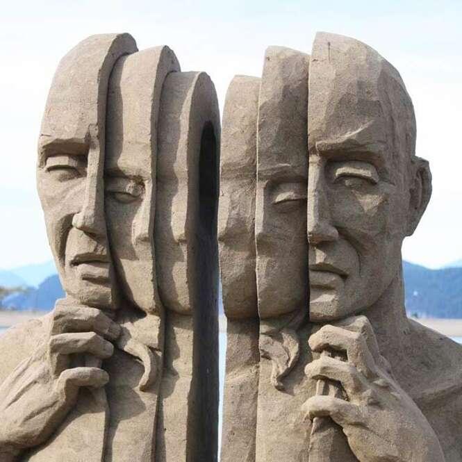 Esculturas de areia que vão te impressionar