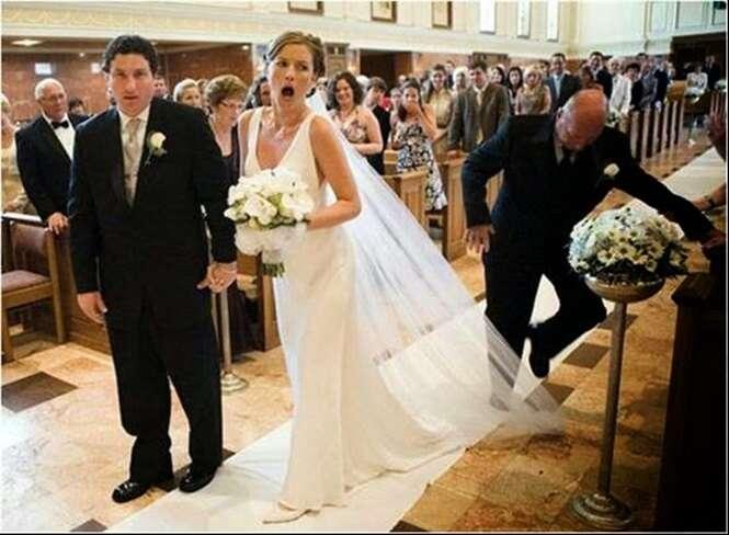 As mais bizarras situações ocorridas durante o casamento