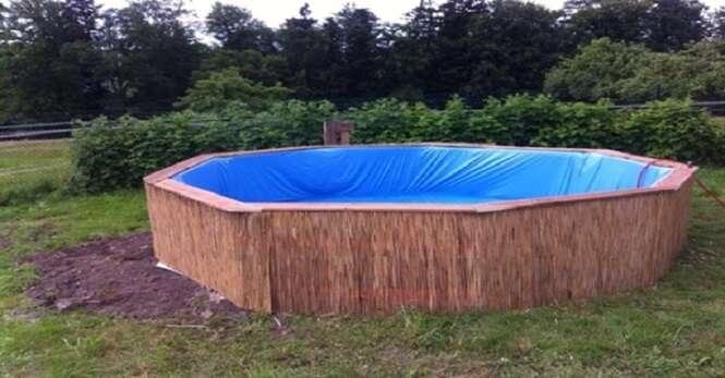 Alemão ensina como construir uma piscina gastando apenas 300 reais
