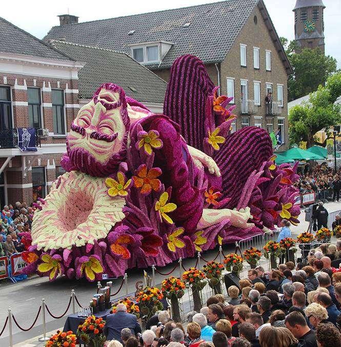 Desfile de flores