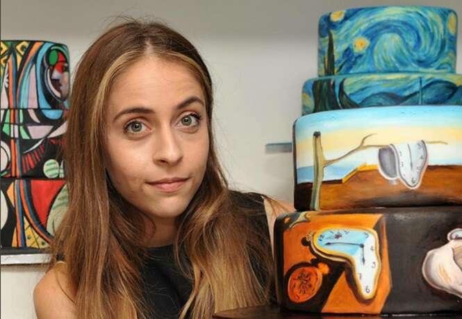 Artista transforma bolos em verdadeiras obras de arte