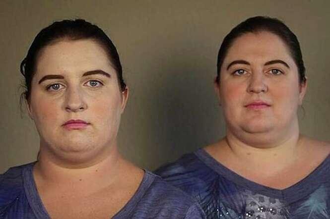 Vídeo mostra momento incrível em que mulheres idênticas se conhecem