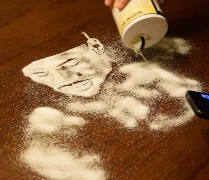 Obras de arte incríveis feitas de sal
