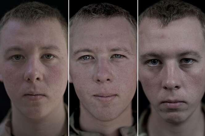 Sequência de imagens mostra mudanças incríveis nos rostos de soldados militares que serviram no Afeganistão