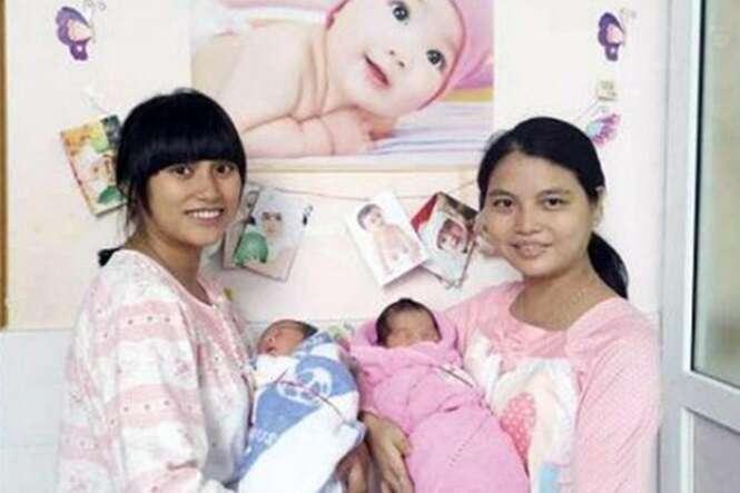 Bebês nascem no mesmo instante com mesmo peso, mesma altura e no mesmo hospital