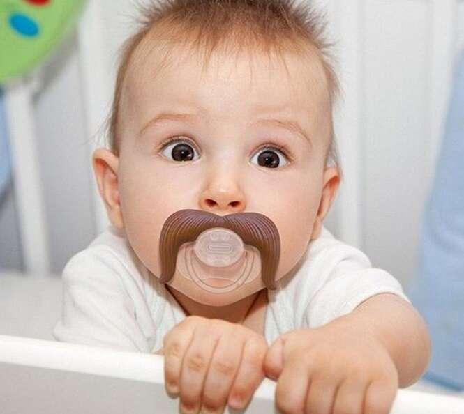 Fotos Engraçadas de bebes com bigode
