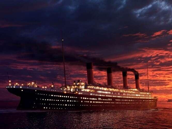 Imagem mostra o cardápio servido durante o jantar dentro do Titanic no dia em que navio afundou