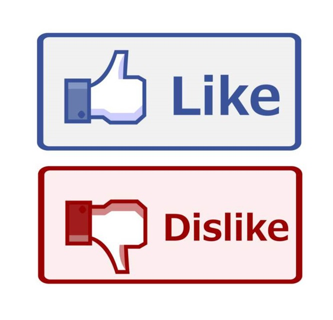 """Situações maldosas para usar o botão """"não curti"""", nova ferramenta do Facebook,"""