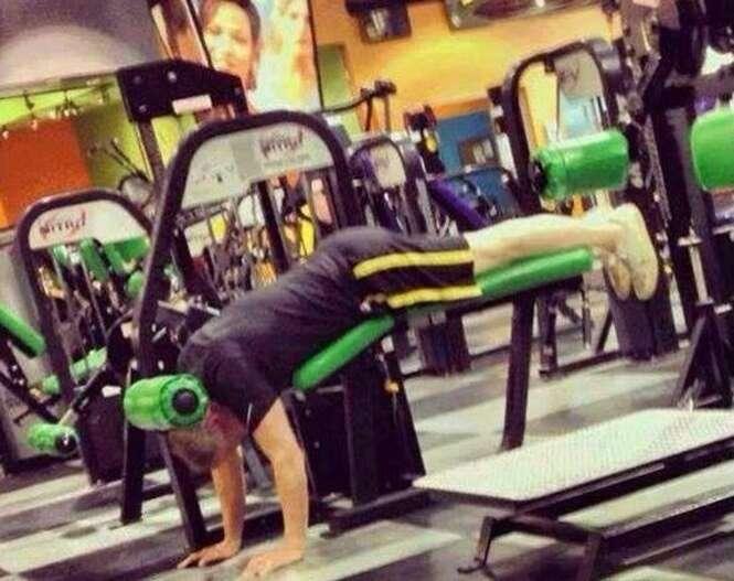 Maneiras estranhas de fazer exercícios físicos