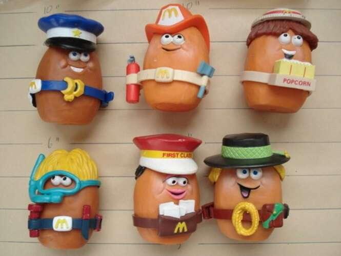 Brinquedos dos anos 80 e 90 do McLanche Feliz