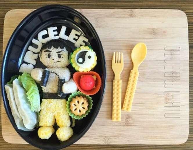 Mãe cria obras de arte com o almoço de seus filhos