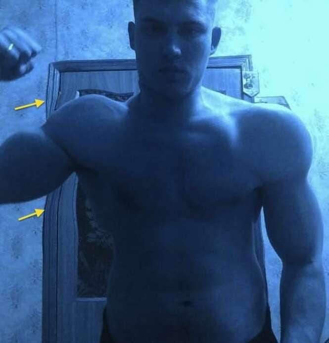 Pessoas que exageraram no Photoshop para ganharem músculos