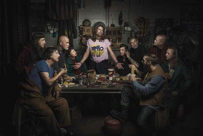 Fotógrafo recria pinturas renascentistas usando mecânicos como modelos