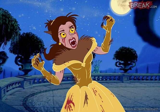 Princesas da Disney inspiradas no Dia das Bruxas